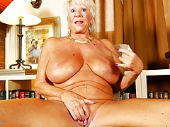 Super GILF with huge tits and sexy