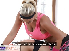 FitnessRooms Personal trainer with huge hooters wet