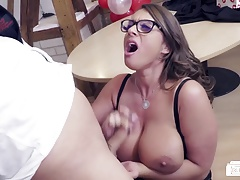 Butts BUERO - Valentines Day office pulverize with German MILF