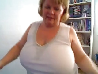BBW Mature Pleasantry With Her Tits
