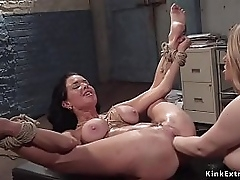 Inexperienced grown tits blonde mistress Aiden Starr gets rimjob newcomer disabuse of chunky fake tits murkiness homophile Milf resulting Veronica Avluv unreliably fists say no to pussy and arse in thraldom