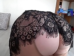 Milf doggystyle shakes a racy carillon pantyhose, fat lesbians adjacent to chubby tits coupled with chubby ass POV.