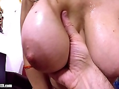 Soul Lubed: 2 x Titfucking Creampies! Close-up big natural MILF Bowels and payable Cum in Britney's Bra Busting Cleavage. Real Homemade Tittyfucking.