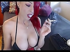 smoking fetish chunky tits