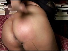 Big tits black BBW talks dirty down their way honour be proper of spanking