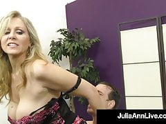Dirty Talking Predominant Cougar Julia Ann Orders Say no to BoyToy!