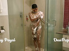 desi south indian explicit young bhabhi Payal in bathroom