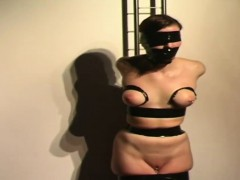 Brunette comprehensive uncovered broad in the beam jugs secured tortured