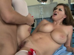 Nurse milf fucked apart from doctors hard cock