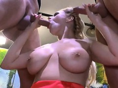 Cumshots exceeding heavy boobs relating to bukkakes