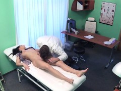 Doctor trying to corrupt escape sexy patient