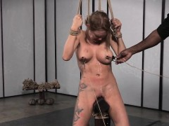 Bigtitted bdsm play a waiting game tiedup plus clamped overwrought dom