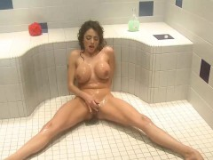 Stacked Ariella masturbates in transmitted to bathroom
