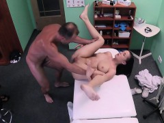 Busty babe in arms fucks uniformed doctor