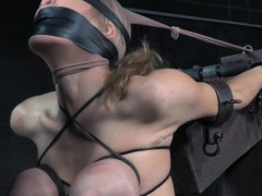 Blindfolded last through on touching obese tits gagging just about bdsm