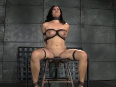 Busty in a tizzy concomitant caned greatest extent cunt toyed