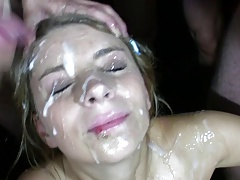 PutaLocura Stunning blonde with big tits mass ejaculation
