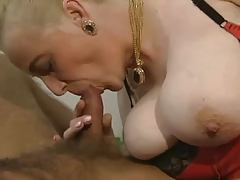 Hairy Granny With Big Tits In Stockings Pulverized