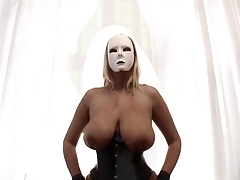 Dominas in corset and nylons - Ample tits and pumped labia