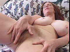 Hairy MILF with giant boobs Solo