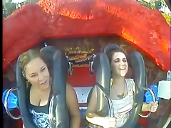 Oops Big Cupcakes & Tits in Roller coasters (Compilation)