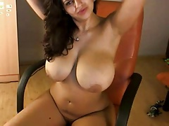 Splendid huge tit webcam 32