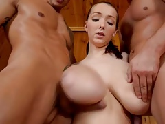 monster titts banged in sauna