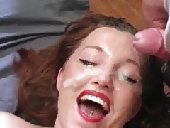 MILF cum covered