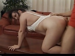Tabea - Kinky Mature Brunette Fucks In The Couch