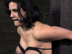 Bigtitted pathetic marionette bound and toyed
